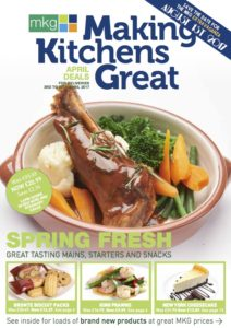 MKG Foods - Making Kitchens Great April 2017 promotional leaflet cover