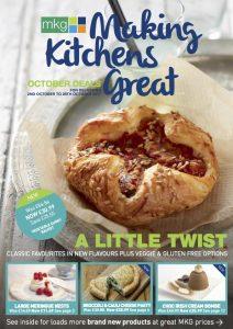 MKG Making Kitchens Great - October 2017 promotional leaflet cover