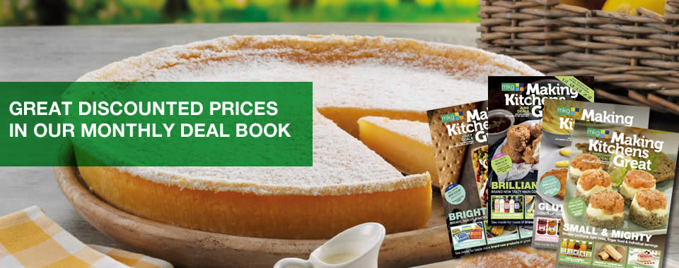 Great discounted prices in our monthly deal book from MKG Foods - Your Foodservice Partner in the Midlands