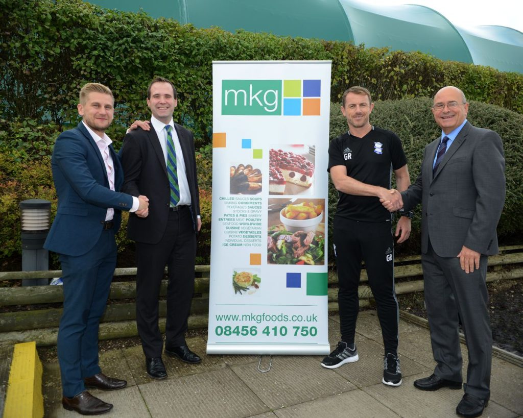 Philip and Robert Mayling with BCFC members - MKG Official Suppliers to Brimingham City Football Club