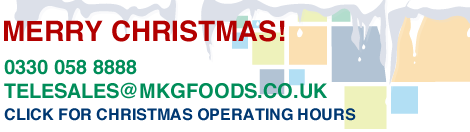 Christmas message graphic from MKG Foods - your foodservice partner in the Midlands