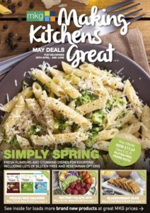 MKG May 2018 promotional leaflet cover - download the May issue of the MKG Making Kitchens Great leaflet for the latest deals and discounts in chilled, ambient and frozen foods.