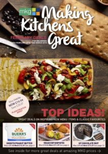 MKG Making Kitchens Great promotional leaflet for February 2019. Check out the latest foodservice deals in the Midlands.
