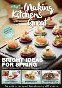 MKG Making Kitchens Great discount leaflet front cover image May 2019