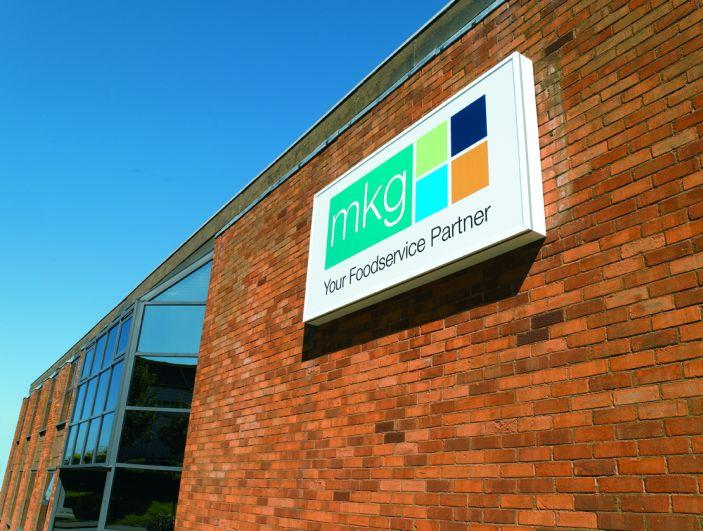 MKG Foods sign on building