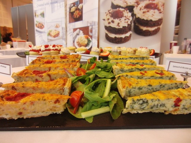 Quiche display at MKG Extravaganza 2013