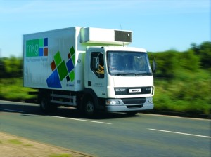 MKG truck delivery foodservice products around the Midlands.