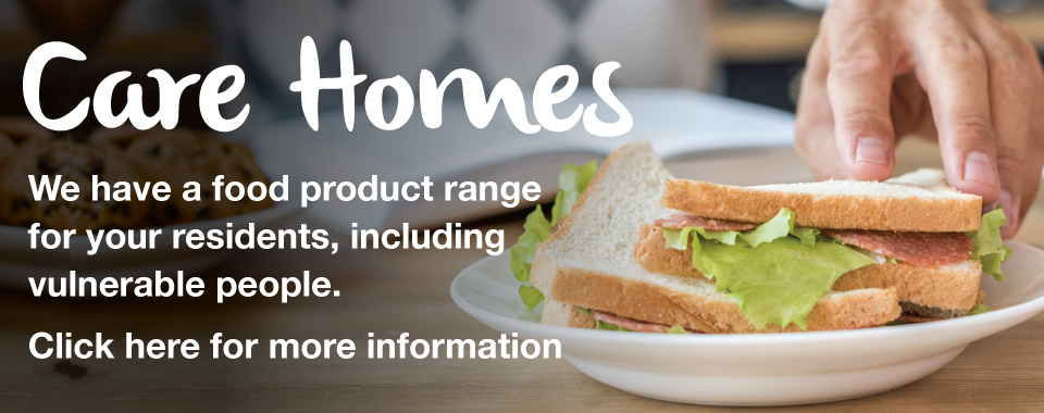 Care Home Food Product Range Slider graphic