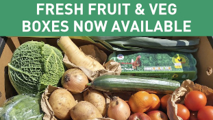Fresh fruit and vegetable boxes available for home delivery by MKG Foods - foodservice supplier to the Midlands.