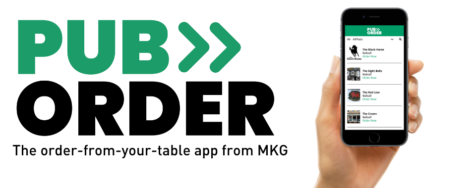 Pub Order - the order from your table app by MKG Foods.